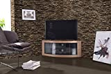Centurion Supports PANGEA Echtholz-Eichenfurnier-TV-Schrank mit gebogener Tru-Corner-Oberfläche (32-55 Zoll)