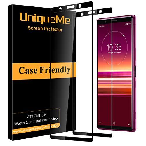 UniqueMe [2 pièces] Protection écran pour Sony Xperia 5, [Dureté 9H] [sans Bulle] Ultra Résistant Film Verre Trempé pour Sony Xperia 5