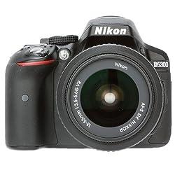 Nikon D5300 24.2MP Digital SLR Camera (Black) with AF-P 18-55 and AF-P DX Nikkor 70-300mm f/4.5-6.3G VR Kit + 8GB Card and Camera Bag + Free HP Deskjet 112 Printer