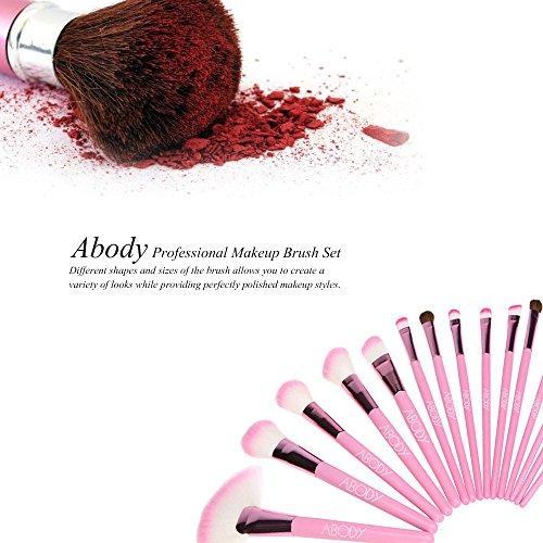 Abody 30Pcs Pinceaux de Maquillage Professionnels Kit de Brosses Cosmétique avec un Sac Brosse pour Fond de Teint,Poudre Sourcil,Fard à Paupière avec un Sac