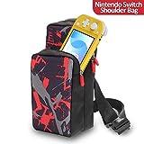 Borsa A Tracolla per Switch,Nintendo Switch Travel Bag per Nintendo/Switch Lite Accessori iphone and iPad con Doppie Cerniere e Tracolla Regolabile