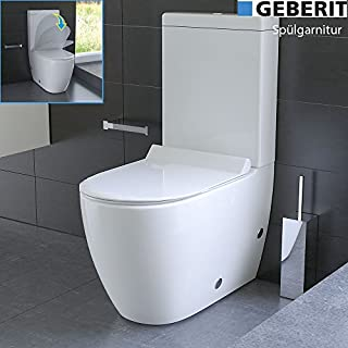 Design Floor-Mounted Toilet with Geberit Flushing System - Ceramic Cistern - Toilet Seat With Soft Close System (Quick Release Function)