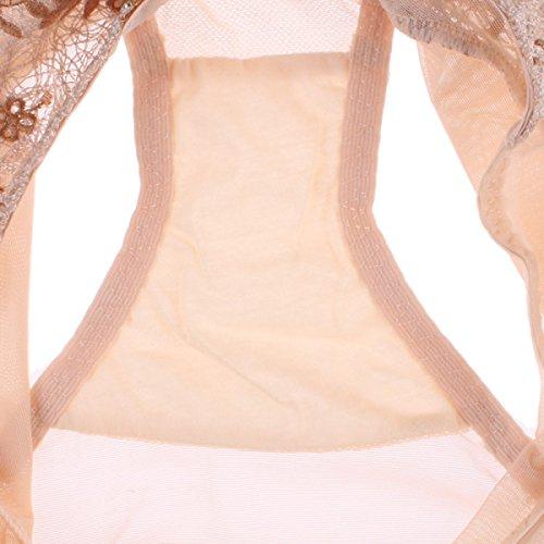POKWAI Frauen Reizvolle Spitze Bequem Hüftweitenverstellung Hautfreundlich Atmungsaktive Soft CottonBikini Unterwäsche-Wäsche Color