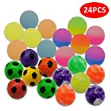 WeNet 24 Pieces 4 Style 25mm Bouncy Balls Include Mixed Color Bouncy Ball