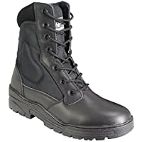 Savage Island Black Pro Patrol Leather Combat Boots