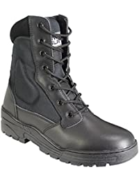 Savage Island Black Pro Patrol Boots Leather Army Combat Tactical Cadet Security Military