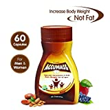 Accumass Herbal Weight Gainer Capsules for Men and Women with Shatavari, Draksha, Ashwagandha - Pack of 60
