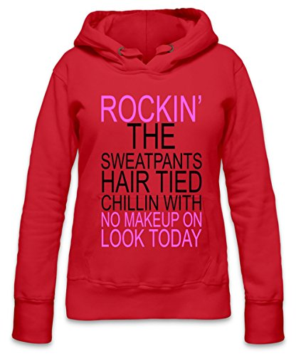 Rockin The Sweatpants Slogan Womens Hoodie X-Large
