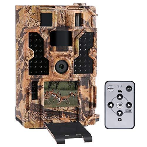 "Lixada wildkamera Rückfahrkamera 20M 1080P 30fps Jagdkamera mit 32 Stück 850NM IR-LEDs Nachtsicht, 0,2 s Auslösezeit, Zeitraffer, 20 m Reichweite, 2,0""LCD-Bildschirm"