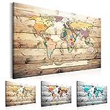 LAVAGNA IN SUGHERO murando 90x60 cm - 1 Parte - Quadro su tela – Poster Mappa del mondo quadro con tappo poster k-B-0009-p-b