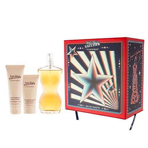 Jean Paul Gaultier Classique EDT 100 ml + SG 30 ml + BL 75 ml + 3D Geschenke (woman) -