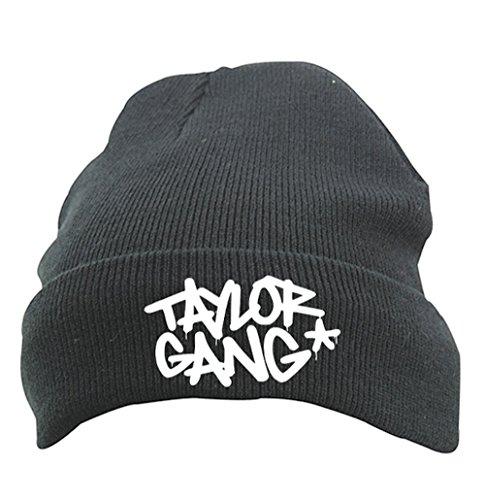 TRVPPY Herren Strickmütze Mütze Beanie mit Thinsulate, Modell Taylor Gang Stars Wiz Khalifa, Schwarz - Hat Tisa