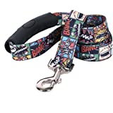 """Yellow Dog Design Vintage Comics EZ-Grip Dog Leash-with Comfort Handle-Large-1"""" Wide And 5 Feet (60"""") Long"""
