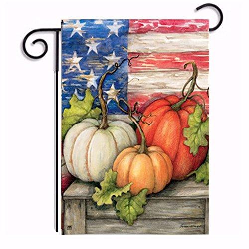 (Hankyky Halloween Garten Flagge Winter Hof Outdoor Decor 100D Polyester Saisonale Festliche Urlaub Flags 12