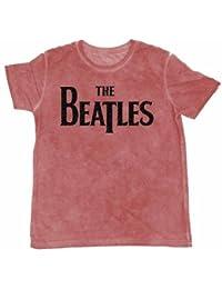 The Beatles Men's Drop T Burnout Short Sleeve T-Shirt