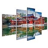 islandburner Bild Bilder auf Leinwand asiatischer Tempel Kyoto Japan UNESCO Poster, Leinwandbild, Wandbilder