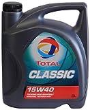 Total t156359 Classic 15W-40 Aceites de Motor para Coches, 5 litros