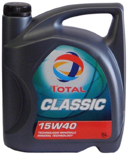 Total t156359 Classica 15W-40 Oli motore per automobili, 5 Lit