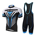 Ciclismo Maillot,Skysper Hombres Jersey + Pantalones cortos babero - Best Reviews Guide