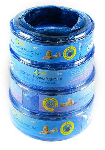 Novità Nuova Ricarica Compatibile Mangiapannolini Blister Universale Multistrato MES Antiodore Mangia Pannolini Bambini Compatibile Maialino/Confezione Da 4 Alta Qualità