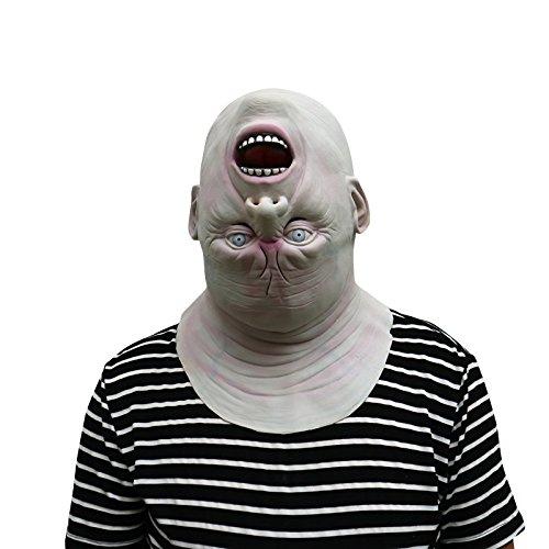 Gruselige Kostüm Puppe Eine - thematys Upside Down Oben Unten Maske - perfekt für Fasching, Karneval & Halloween - Kostüm für Erwachsene - Latex, Unisex Einheitsgröße