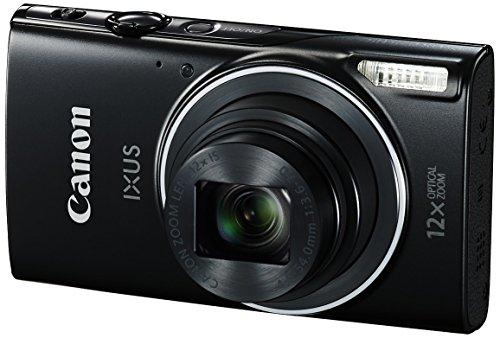 Canon IXUS 275 HS Digitalkamera (20 Megapixel, 7.5 cm (3 Zoll) TFT-Display, Full HD, 12-fach optischer Zoom, WLAN, NFC) schwarz 1-kanal-visier