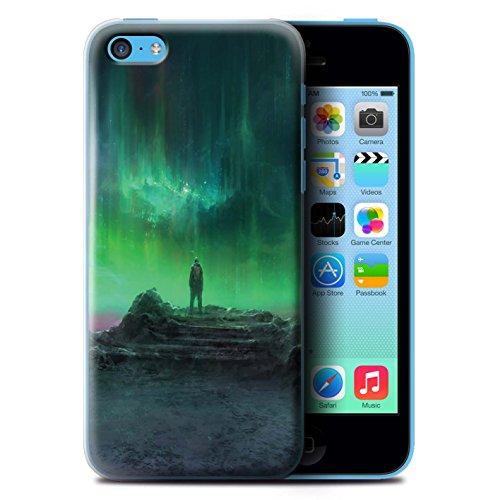 Offiziell Chris Cold Hülle / Case für Apple iPhone 5C / Pack 12pcs Muster / Fremden Welt Kosmos Kollektion Polarlicht