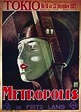 Metropolis Plakat Movie Poster (27 x 40 Inches - 69cm x 102cm) (1926) French B