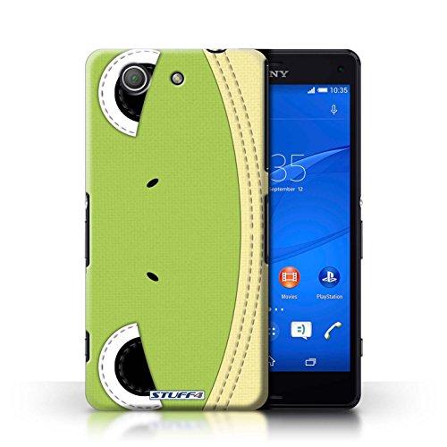 Kobalt® Imprimé Etui / Coque pour Sony Xperia Z3 Compact / Ours conception / Série Cousu des Animaux Effet Grenouille