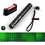 V Moda™ New 532nm SD 100 mw 303 Focus Green Laser Adjustable Pointer With 18650 Battery And Charger