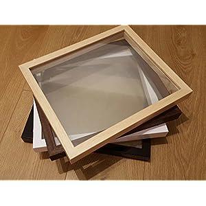 Glas zu Glas Schweben Bilderrahmen nur - echtes Holz, Glas zu Glas Rahmen - Papier geschnittene Rahmen für Papier Handwerk