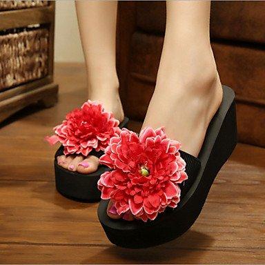 Donne'sscarpe piattaforma tessuto Flip Flop pantofole vestito blu / giallo / verde / rosa / viola / rosso / bianco / arancio US8 / EU39 / UK6 / CN39
