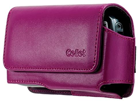 Cellet BlackBerry Pearl 8100, Motorola SLVR L7, L6, and L2 Horizontal Noble Case - Purple
