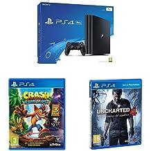 PS4 Pro 1 TB + Crash Bandicoot + Uncharted 4