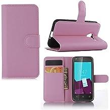Guran® Funda de Cuero Para Vodafone Smart Speed 6 VF795 Smartphone Tirón de la Cubierta de la Función de Ranura Tarjetas y Efectivo Caso