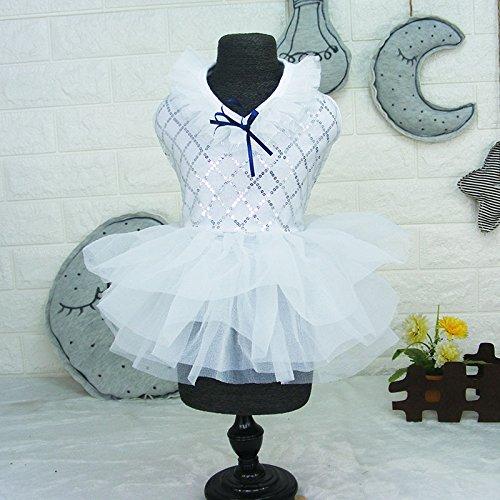 Pet Hund Katze Tutu Pailletten Kleidung Kleidung, Sweet Spitze Rock Puppy Prinzessin Hochzeit Apparel (Apparel Elephant)