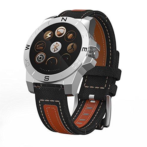 Smart-Watch Phone, Anti-Verlorene Funktion, Aktivitätstracker, Pulsmesser, Ios Kompatibel, 1,3 Zoll Runden Touchscreen, Fernbedienung, Armbanduhr, Braun