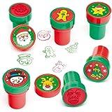 Timbri natalizi con inchiostro incorporato per bambini (confezione da 10)