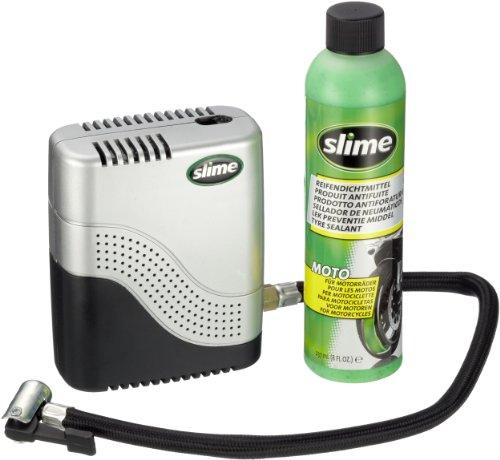 Kit-ripara-pneumatici-moto-con-liquido-Slime-da-237ml-e-compressore-Cod-50024