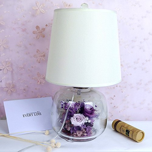 Lkklily-valentine de cadeau de fête de la vie éternelle fleur rose cadeau de Noël souvenir décoratif Décoration lampe de chevet