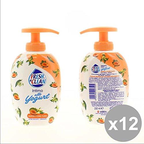 Set 12 FRESH&CLEAN Intimo.200Ml Yogurt Pap Bagnoschiuma e saponi per il corpo