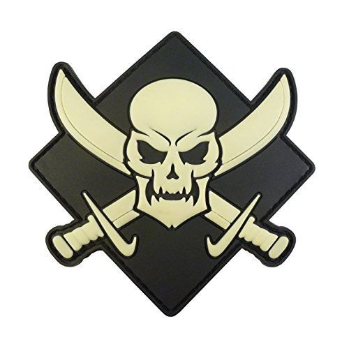 Calico Jack Crâne Pirate Jolly Roger Morale Tactical PVC Gomme 3D Fastener Écusson Patch
