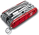 VICTORINOX Couteau d'officier 'SwissChamp XLT' rouge transparent