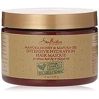عبوة ماسك للشعر مانوكا بالعسل وزيت المافورا لترطيب مكثف | 12 اونصة سائل من شيا مويستر