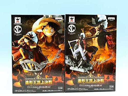 Vol.2 Luffy One Piece SCultures molding king showdown at the summit, Mihawk whole set of 2 (japan import)