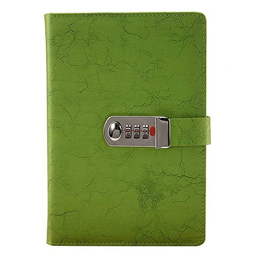A5quaderno scrittura vintage, in pelle con serratura a combinazione ricaricabili Traveler notebook A5 Grass green