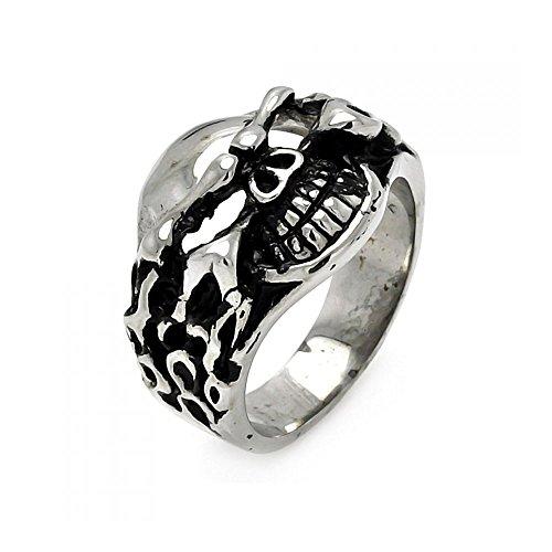 mens-stainless-steel-flamed-skull-head-ring