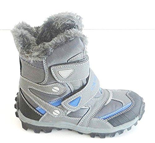 JUNGEN STIEFEL SNOWBOOTS Gr 25-32 -WARMFUTTER -5013 Grau