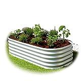 Gartenpirat Hochbeet aus Metall Alu/Zink-Beschichtet (162 x 82 x 40 cm alugrau)