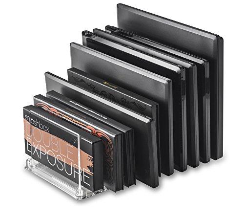 byAlegory Acryl Makeup Palette Organizer mit abnehmbaren Trennwänden | 10 Leerzeichen passt für alle Palettengrößen -